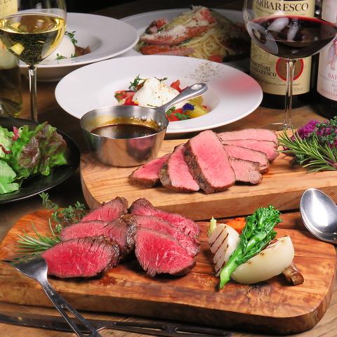 """""""肉ビストロ""""で、気軽にワインを楽しもう♪★ワイングラス500円~ボトル2,800円~★"""