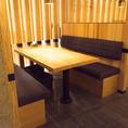 個室感のあるボックス席が大人気。