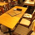 テーブル全8席。2名様席3席。4名様席4席。6名様席1席。店舗状況やお客様のご利用状況に応じて配置変えを致しております。