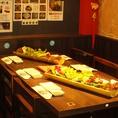 広々6名様テーブル完備!女子会・誕生日に◎