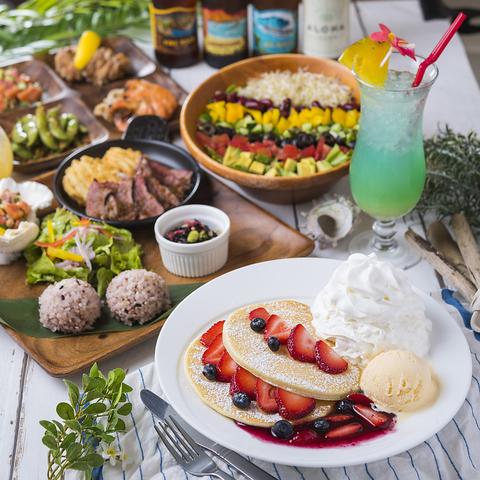 【女子会、パーティー♪】 ハワイの人気料理・デザートが楽しめます!!