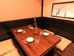 掘り炬燵式の個室は食事会や接待などプライベート利用に最適!!