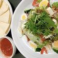 料理メニュー写真かんからサラダ/牛肉サラダ