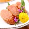 料理メニュー写真サーモンの炙り焼き/明太子の炙り焼き/厚切りベーコンの炙り焼き/しまほっけ