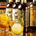 世界的に人気の【竹鶴】をはじめ、ドライフルーツのようなスイートさとなめらかな口当たりが特徴の【シングルモルト宮城峡】など、プレミアムなウイスキーを多数取り揃え。味の違いを体感でき、週末に、様々な楽しみ方で、いつもより少し贅沢なひと時をお過ごし下さい。又、世界の銘柄ビールも多数ご用意しております◎