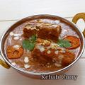 料理メニュー写真タンドリーチキンカレー TANDOORI CHICKEN CURRY/カバブカレーKABABU CURRY
