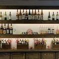 店内にはずらりと銘酒が並べており、日本酒やワイン、ウィスキーや焼酎など種類豊富にご用意しております。逸品お料理とご一緒にお楽しみください♪