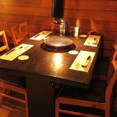 広々テーブル席。4名様~8名様までの宴会が可能。広々なのでゆっくりくつろげます。