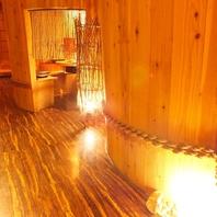 酒樽風個室・掘り炬燵個室・お座敷宴会席など多彩…。