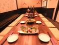 テーブルをつなげると中~大規模の宴会まで対応可能!!