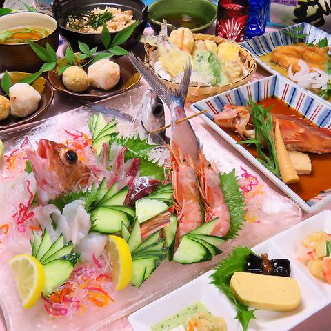 個室なので安心。瀬戸内旬魚を堪能!コースは料理は2000円から