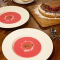 料理メニュー写真ビーツのポタージュスープ