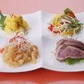 料理メニュー写真旬の前菜4種盛り合わせ