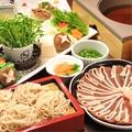 料理メニュー写真鴨しゃぶ鍋食べ放題コース