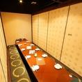 こちらは8~12名様用個室。合コン等に最適です!飲み放題は女性に人気のカクテルも種類豊富でご用意しております♪