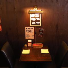 【デート・2人飲みに!!】シックな色合いの店内なので、まったりお料理やお酒を楽しみたい日にも最適です♪