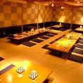 新大阪駅すぐ。最大宴会可能人数80名様と大型宴会~少人数の宴会まで各種宴会に対応できる席をご用意。