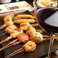 完成された串とワインのハーモニー♪