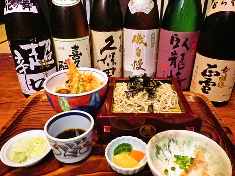 北海道幌加内が産地の最高級そばを毎朝石臼で自家製粉したこだわりの蕎麦。