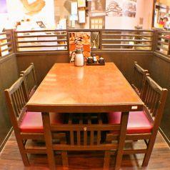 テーブル席は全20席。