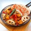 料理メニュー写真鉄板野菜カレー