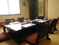 落ち着ける個室です。食事を楽しみながらの商談や結納など、大切な集まりにもピッタリです。
