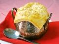 料理メニュー写真あつあつキノコパイ包みクリームスープ/ミネストローネ