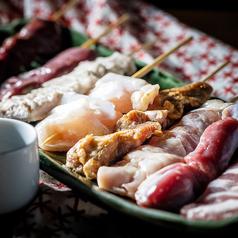 料理メニュー写真串焼き8種盛り