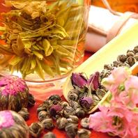 ドリンクへのこだわり♪花の香りのするお茶で心和らぐ