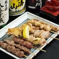 料理メニュー写真串焼き盛り(7本)