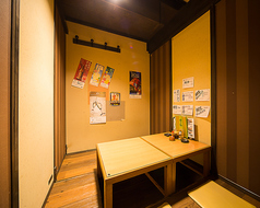 4名~5名様用の掘りごたつ個室。こちらの個室は6部屋つながっており、つなげると最大28名の個室にもなります。