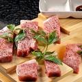 料理メニュー写真鹿児島県産黒毛和牛のステーキ溶岩焼き(200g)