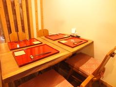 テーブル席は、半個室!2名様からご利用いただけます。