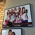 【店内にはGoobneをプロモーションしてきた歴代アイドル】これも韓国ならでは!GoobneをPRしてきた韓流アイドルが年代ごとに紹介されています♪