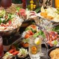 九太郎つくば店の宴会コースメニューは博多満喫コースが飲み放題付き全10品3900円からございます。九州名物はもちろん和食や新鮮な海鮮を使ったメニューも有り、飲み放題メニューは当店こだわりの本格焼酎を含む約80種類と充実しており大変贅沢なコースとなっております。