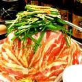 料理メニュー写真ピリ辛☆黒豚すきやき  ~地鶏の卵ですき焼き風に~