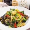 料理メニュー写真野菜たっぷり和蕎麦でパスタ