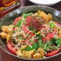 料理メニュー写真中華干し豆腐のサラダ