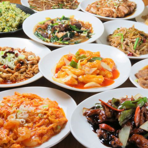 本場中国で修行を積んだ料理人が腕を振るいます!!どのお料理も注文を受けてから豪快に炎を上げて出来立てを提供します!!