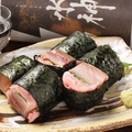 料理メニュー写真ガリ紫蘇しめ鯖巻き