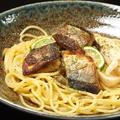 料理メニュー写真秋刀魚ときのこの酢だち醤油スパゲッティ