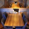 4名様用のテーブル席★広々使えてお子様連れのご家族にもGOOD♪