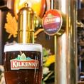 アイルランドビールのキルケニーのサーバーも導入しました。長崎で樽詰キルケニーを飲めるのは当店だけ!?クリーミィな泡とフルーティな味わいをお楽しみください。