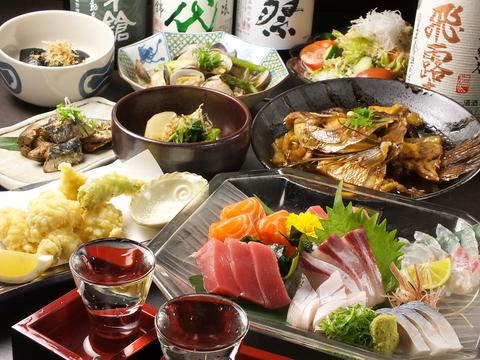 旬の魚と旬の野菜をふんだんに使用したお料理で、おもてなし致します♪