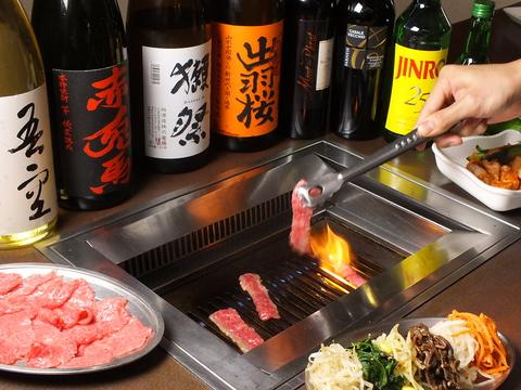 和牛・国産肉にこだわる韓国焼肉料理店☆20名さま~32名まで貸切も可能!