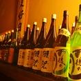 日本酒や焼酎、豊富な品ぞろえ。