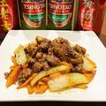 料理メニュー写真ラム肉の香味料炒め