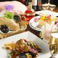 神戸牛にはもちろん野路菊のマーク。フォアグラや世界三大珍味でお祝いを