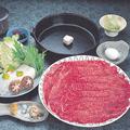 料理メニュー写真特選黒毛和牛すき焼きと京会席プラン