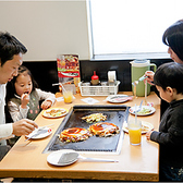 家族みんな揃ってゆったりお食事を楽しめます!